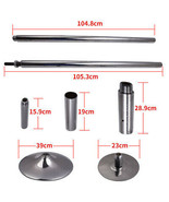 45mm Professional Dancing Pole Solid Removable Static Spinning Stripper ... - $118.80