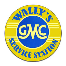 Wally's GMC Service Station Mayberry Andy Griffith Round MDF Wood Sign - $29.65