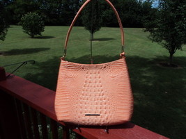 Authentic Brahmin Farrah Cantaloupe Melbourne Orange Shoulder Bag NWT Re... - $179.99