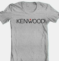 Kenwood T-shirt  Logo stereo speaker cotton blend graphic printed grey tee image 1