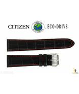 Citizen Eco-Drive CA0080-03E 21mm Black Leather Watch Band Strap S069149 - $62.95