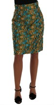 Dolce & Gabbana Multicolor Jacquard Straight Pencil Skirt - $446.46