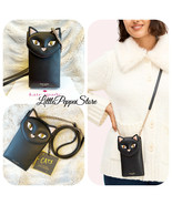 NWT KATE SPADE MEOW CAT NORTH SOUTH PHONE CROSSBODY BAG IN BLACK - $68.19