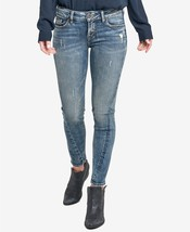 Silver Jeans Co. Kid's Denim Aiko Skinny Ankle Jeans, Size 24 x 27 - $49.50