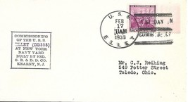 ELLET (DD-398) First Day in Commission Locy Type 3r (A-BBT) Boxed Cachet... - $3.47