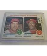 1973 Topps #63 RBI Leaders/Johnny Bench/Dick Allen: Cincinnati Reds - $2.38