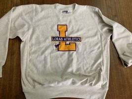Loras College Duhawks Crew Neck Sweatshirt Mint 2XL Vintage Rare Reverse... - $37.99