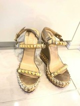 Christian Louboutin Auth Wedge sole Studs Sandals Size 37 Used  from Japan - $430.99