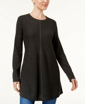 Style & Co Swingy Knit Tunic Top,BLACK HEATHER XXLARGE - $10.81