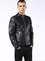 Diesel Men's Black L-Sound Leather Jacket, Size XXL BNWT $698 - $399.75