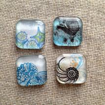 Ocean magnets, Beach inspired magnets, Beach Magnets, Fridge Magnets, Ki... - $10.00