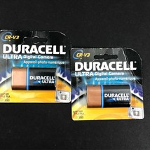 Lot of 2 Duracell CR-V3 Ultra LITHIUM Digital Camera Battery (Exp. Mar. 2021) - $7.98