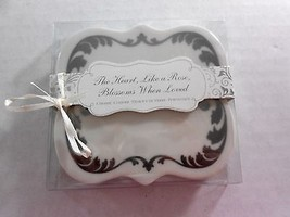 Disney Fairy Tale Wedding Coaster Set of 2 Whit... - $9.89