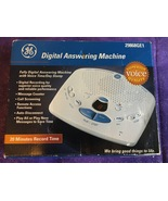 GE Fully Digital Answering Machine With Voice Time/Day Stamp 29868GE1 - $44.95