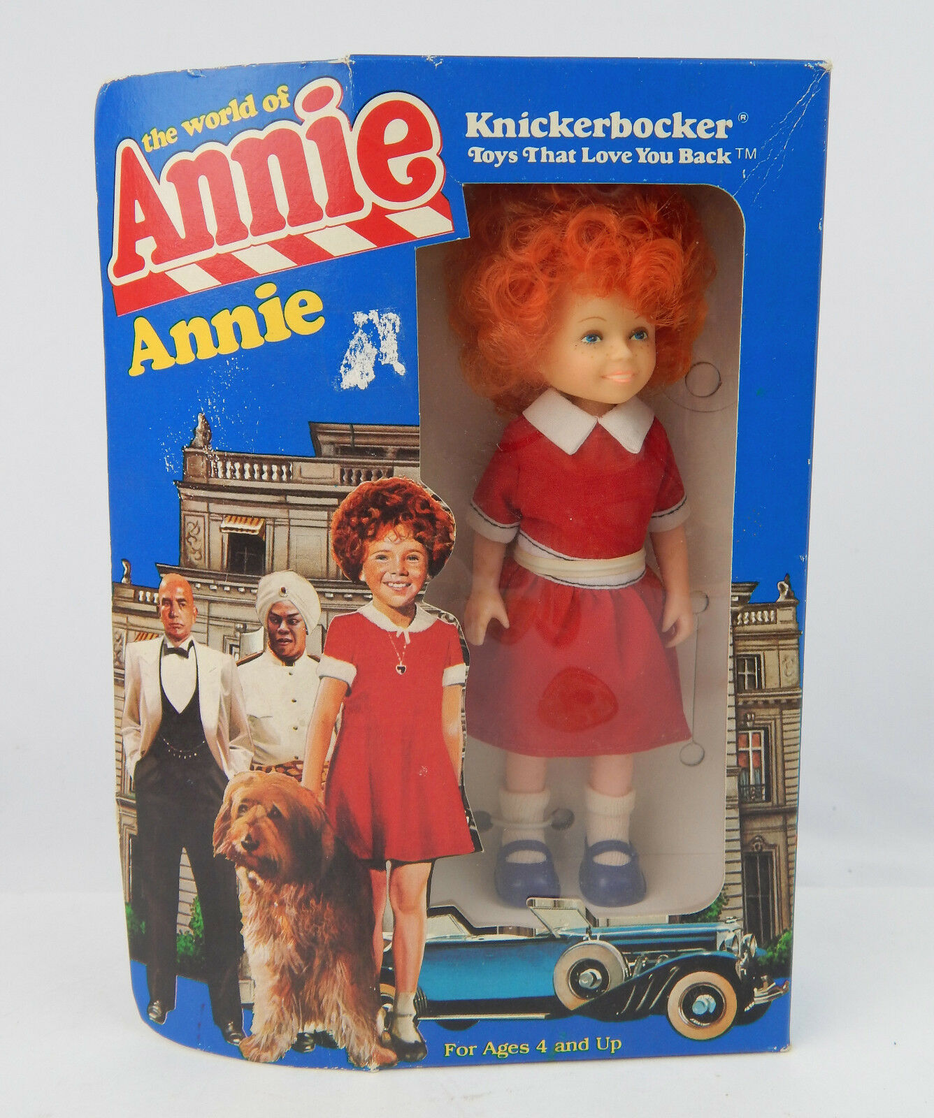 """Vintage 1982 Knickerbocker The World Of Annie 6"""" New in box, some yellowing - $11.29"""