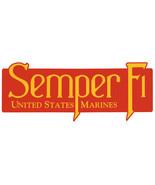 USMC Semper Fi Bumper Sticker US Marines Car Adhesive Military Decal Car... - $6.49