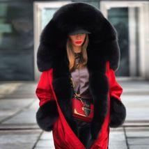 Women Winter Warm Thick Fur Long Sleeve Hoodie Over Coat image 5