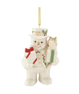 Lenox 2018 Snowman Figurine Ornament Happy Holly Days Annual Gifts Galore NEW - $33.66