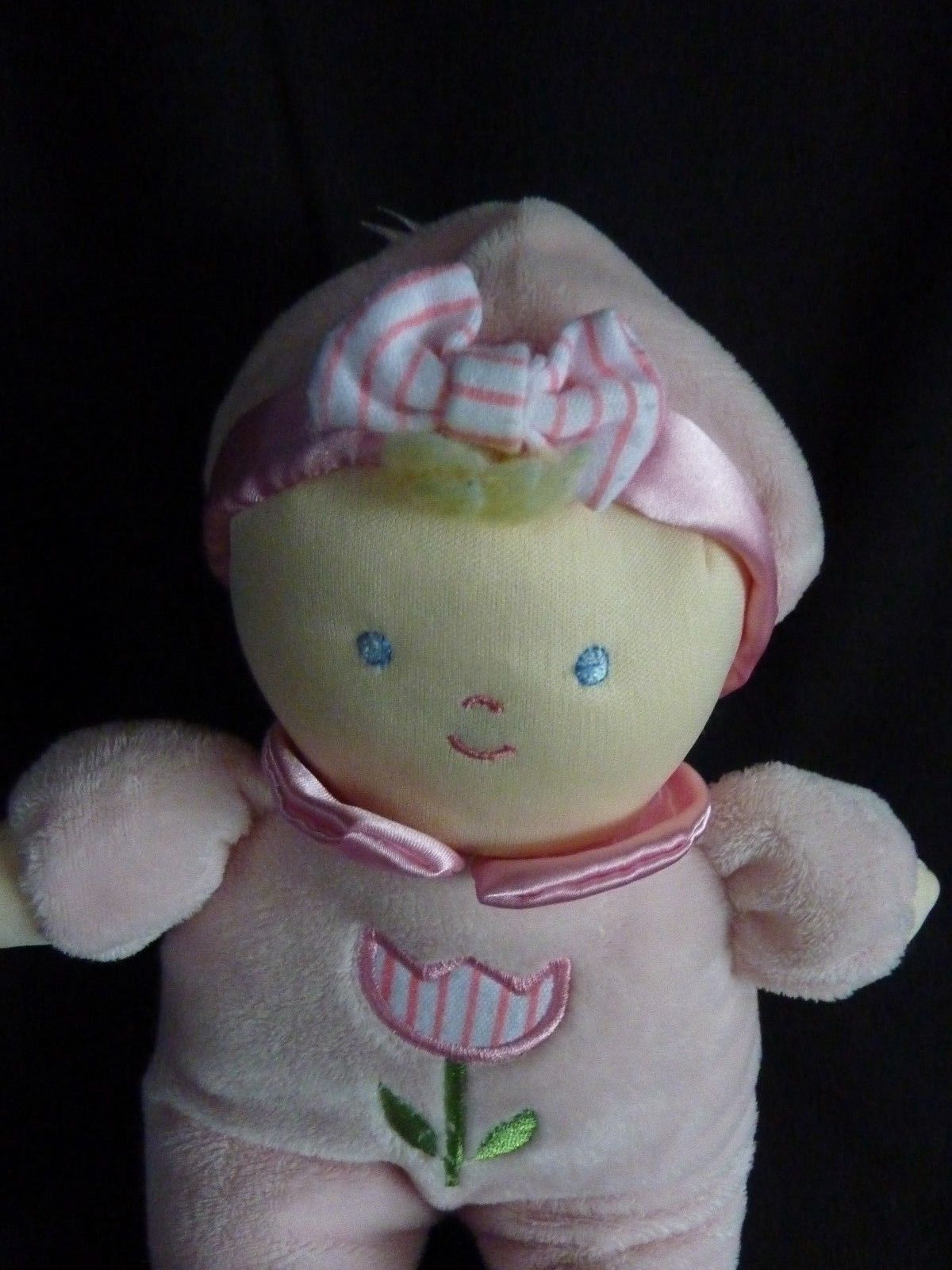 """Kids Preferred Pink Tulip Flower Plush Doll Bunny Slippers 12"""" Soft Toy Stuffed image 3"""