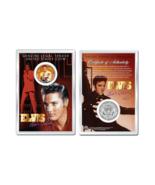 ELVIS PRESLEY - Life & Times OFFICIAL JFK Half Dollar US Coin in PREMIUM... - $204,13 MXN