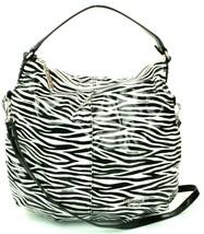 Versace PVC Beach Bag Black White Zebra Print Medium Handbag - $129.93