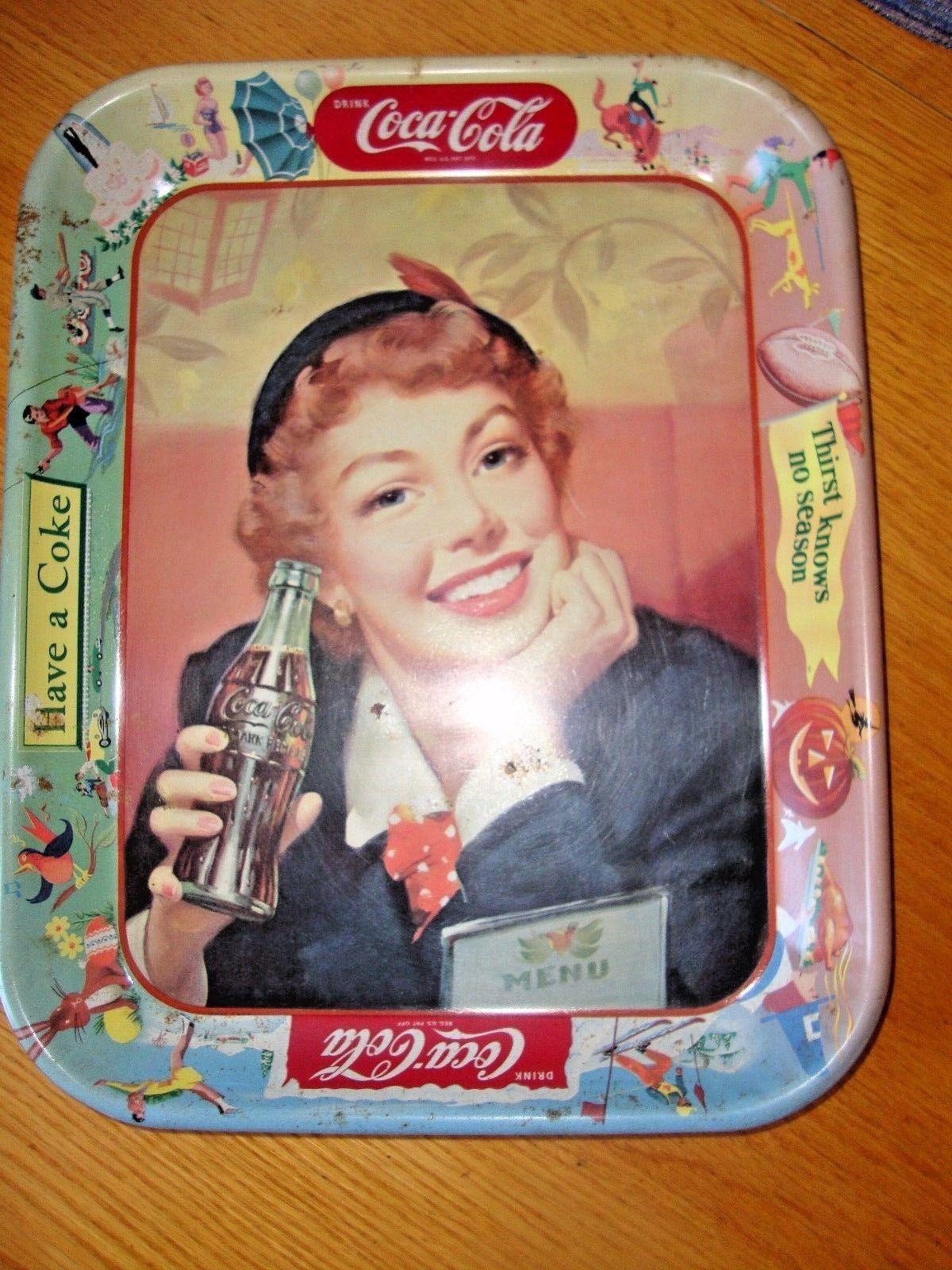 Original 1953 Vtg Coke Coca Cola Tray and 50 similar items