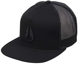 NIXON Unisex Deep Down Trucker Hat All Black One Size - $41.72