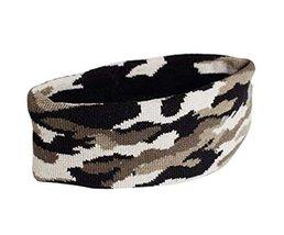 Camouflage Pattern Sports Yoga Hair Band Soft Cotton Thread Headband, Army GREEN