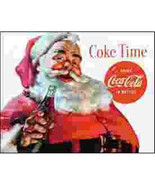 Coca Cola Classic Santa Claus Ad Tin Sign Reproduction, NEW UNUSED - $5.94