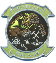USMC MALS-19 WOLVERINES- NO VELCO - $11.87