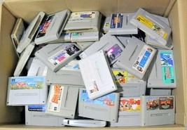 【Lot 80 set】Nintendo Super Famicom Soft Cartridge random Junk Japanese WHOLESALE - $253.32