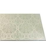 Gata Efecto Plateado Crema Bordado Adamascado Fabric Material 2 Tamaños - $8.83+
