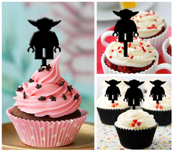 Ca134 Decorations cupcake toppers lego yoda silhouette Package : 10 pcs - $10.00