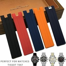 21mm Silicone Rubber Watch Strap Style Fashion For Tissot T067 Sport Watchstraps - $42.29