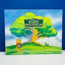 Walt Disney Store poster print litho 14X11 Winnie Pooh Grand Adventure S... - $28.89