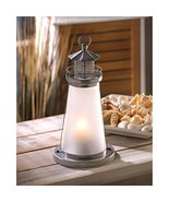 Candleholders Lanterns Glass Lookout Lighthouse Candle Lamp Candle Holde... - $19.85