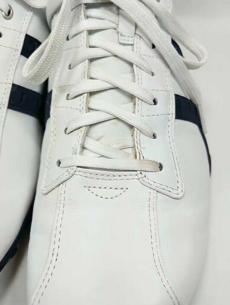 Skechers CityWalk Fashion Sneakers Men's Sz 13 Med White Blue Leather (sb17ep)