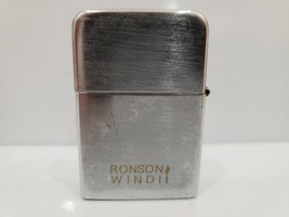 VINTAGE WORKING RONSON WIND II CHROME LIGHTER - $11.65