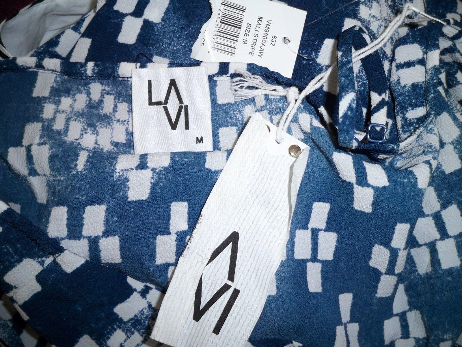 NWT LAVI Sam & Lavi Anthropologie Mali Jumpsuit M Batik Ikat Tie Front Tie Dye
