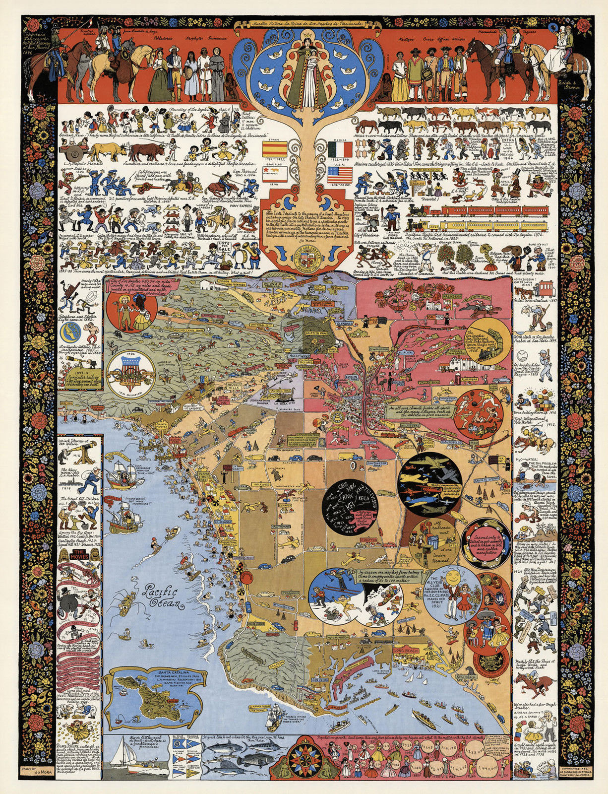 Los Angeles LA Historical Recreational And Similar Items - Historical wall maps