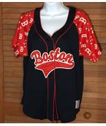 Boston Red Sox Baseball Jersey Campus Lifestyle SIze L Heavy Stitching - $19.34