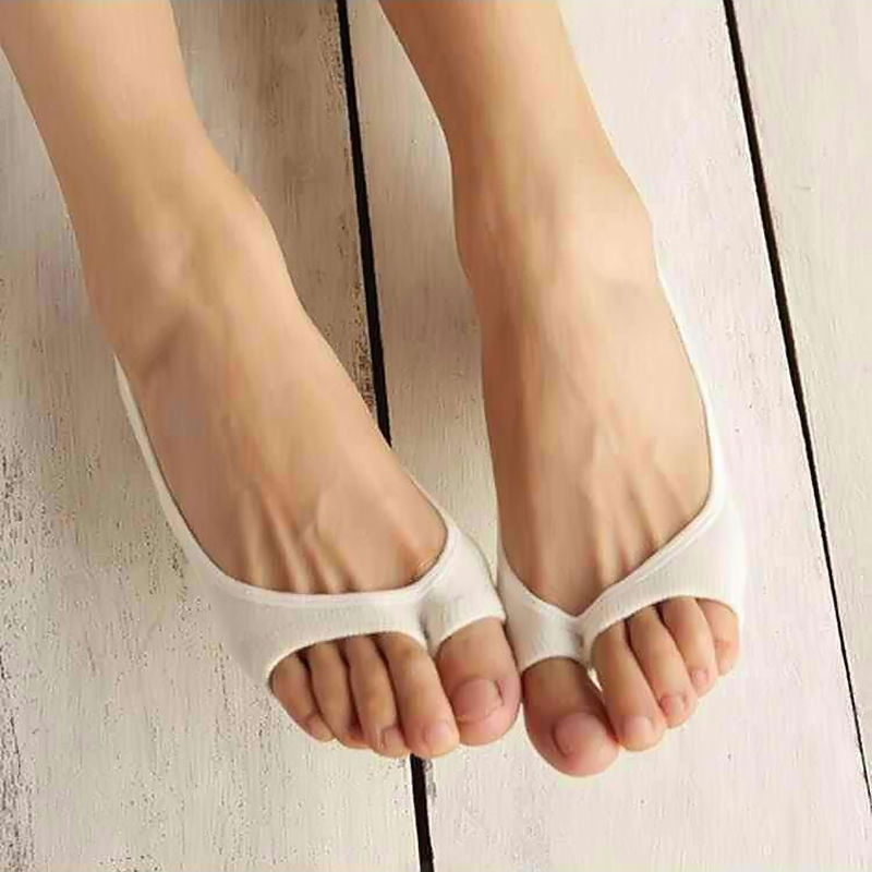 Womens Toeless Peep Toe Open Toe Flip Flops Sandal Sock Footsies Shoe Liner Sock