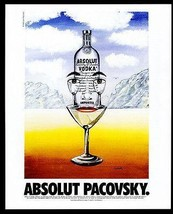 Absolut Pacovsky AD 1996 Vodka Liquor Distillery John Pacovsky Advertisi... - $14.99