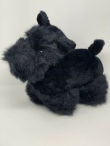 "Dakin Plush Scottie Scottish Terrier Vintage 1986 Black Stuffed Animal 14"" Long - $15.84"
