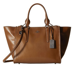 NWT Coach 33545 Saddle Smooth Leather FULL SIZE Crosby Carryall RARE! - $324.50