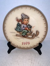 "MJ Hummel Goebel Annual Plate ""Ride Into Christmas"" Hum 268 in Bas Relief 1975 - $15.00"