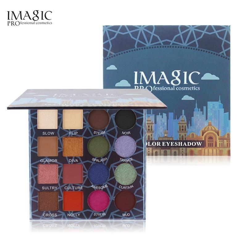 IMAGIC 16 Colors Shimmer Matte Eyeshadow Palette Waterproof Make Up Professional - $23.55