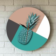 Modern Pineapple Acrylic Wall Clock Stitching Color Fruit Vegan Home Dec... - $39.26+
