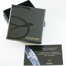 BRACELET GIADAN SILVER 925 HEMATITE GLOSSY AND DIAMONDS WHITE MADE IN ITALY image 3