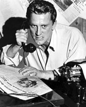 Kirk Douglas In Ace In The Hole Holding Vintage Telephone 16X20 Canvas Giclee - $69.99